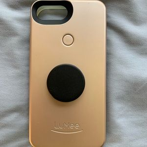 Gold LuMee case for IPhone 7 Plus